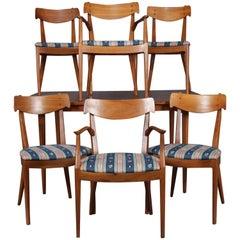 Midcentury Danish Modern Declarations Walnut Dining Room Set by Drexel