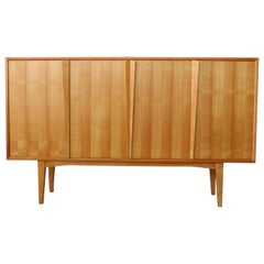Maple Highboard Credenza, Germany, 1960s