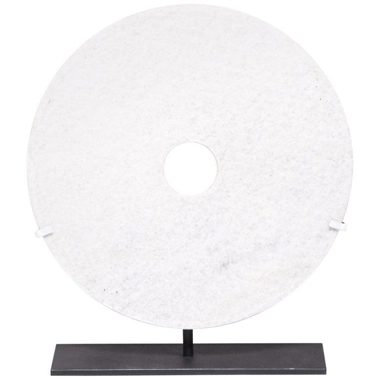 White Jade Incised Bi Disc