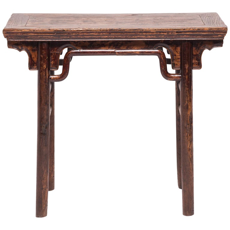19th Century Chinese Wine Table with Humpback Stretchers
