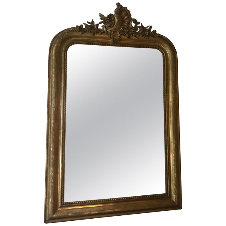 19th Century Gilt Louis Phillipe Mirror For Sale
