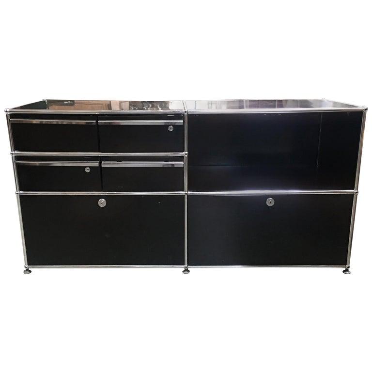 Midcentury USM Modular Credenza/Cabinet Designed by Fritz Haller