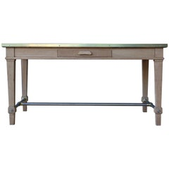 Oak Desk from the Bank of France, 1950s