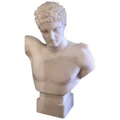 19th Century Hermes Parian Ware Bust