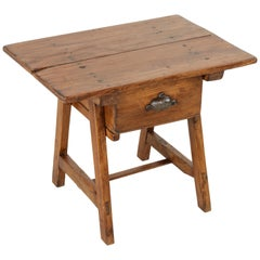 Early 20th Century French Alps Pine Mountain Table, Coffee Table, Side Table