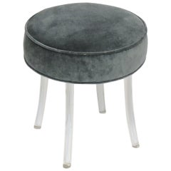 Hollywood Regency Lucite Swivel Vanity Stool by Reflectone Corp.