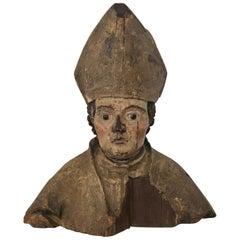 18th Century Sculpture of Religious Figure