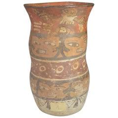 Pre Columbian Nazca Cylinder Vase, circa 100 BC-800 AD