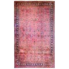 Grand 19th Century Kashan Rug