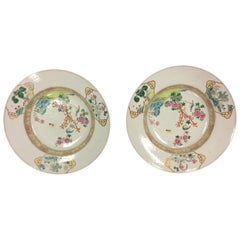 Pair of Chinese Export Porcelain Chargers, 18th Century