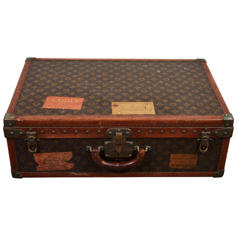 Early LV Monogram Suitcase by Louis Vuitton For Sale