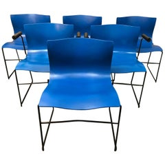 Vignelli Designs for Knoll Handkerchief Dining Chairs, Set of Six