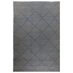 Oversize Blue Deux Diamond Rug