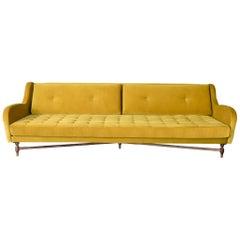 Dino Velvet and Walnut Sofa by ATRA