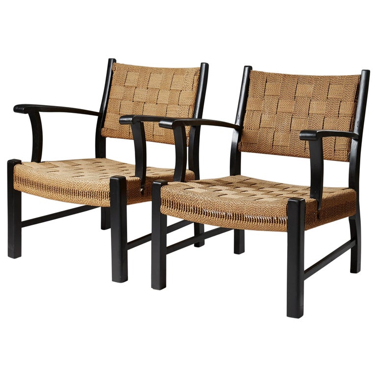 Pair of Armchairs, Anonymous, by Fritz Hansen, Denmark, 1930s-1940s