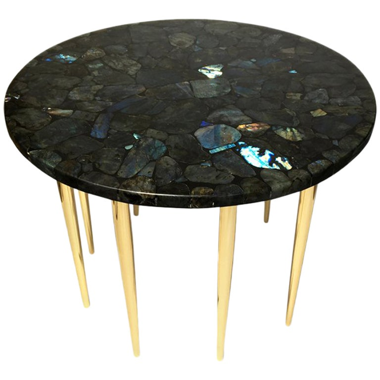 Coffee Table Model Labradorite by Studio Superego Unique Piece, Italy