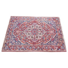 Vintage Oriental Hand-Knotted Woollen Rug, Second Half of the 20th Century