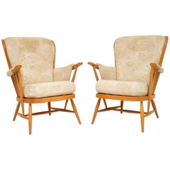 1970s Pair of Vintage Ercol Armchairs