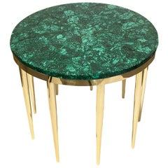 """Malachite"" Coffee Table by Studio Superego, Unique Piece, Italy"