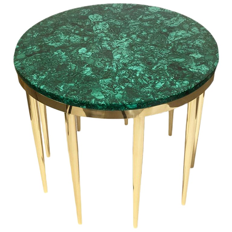 """Malachite"" Coffee Table by Studio Superego, Unique Piece, Italy"