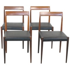 Set of Four Teak Dining Chairs by Lübke, Germany, 1960s