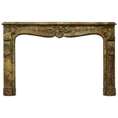 Stunning French Marble Louis XV Fireplace Mantel