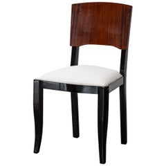 Early 20th-Century Set of Six French Art Deco Dining Chairs Restored Conditions