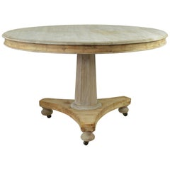 Small Antique Round Bleached Mahogany Breakfast Table, English, circa 1835