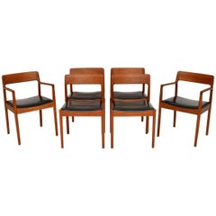 1960s Set of Six Danish Teak Dining Chairs by Norgaards