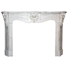Antique Fireplace Mantel 19th Century