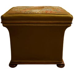 Victorian Square Concave Sided Stool