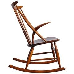 Rocking Chair by Illum Wikkelsø for N. Eilersen, 1950s