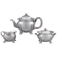 Chrysanthemum Sterling Silver Tea Set by Tiffany & Co.