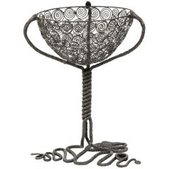 Alessandro Mazzucotelli Basket in Wrought Iron, circa 1920