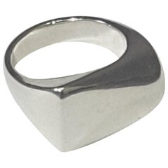 "Georg Jensen Sterling Silver ""Plaza"" Ring Design #141 Designed by Henning Koppel"