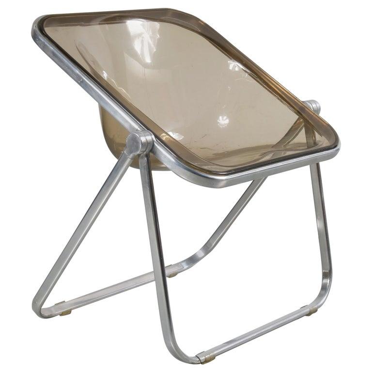"Giancarlo Piretti ""Plona"" Chairs for Castelli, Italy, 1970"