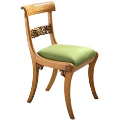 Set of Twelve Oak and Holly Dining Chairs