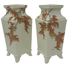 Pair of 19th Century Yabu Meizan Vases
