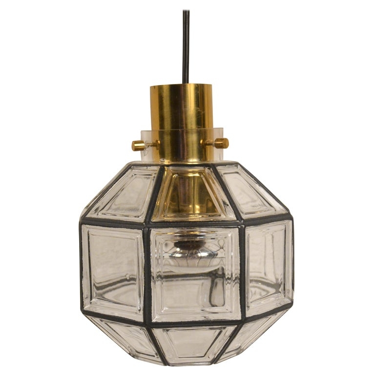 Glass Ceiling Lamp from Limburg, 1970s