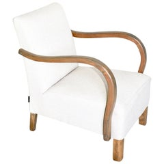 Art Deco Armchair in beige from 20th Century
