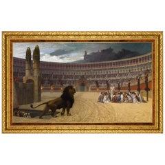 Christian Martyrs, After Oil Painting by Belle Époque Artist Jean-Léon Gérôme