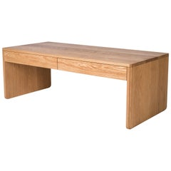 Slate Coffee Table by Tretiak Works, Handmade Contemporary White Oak Custom