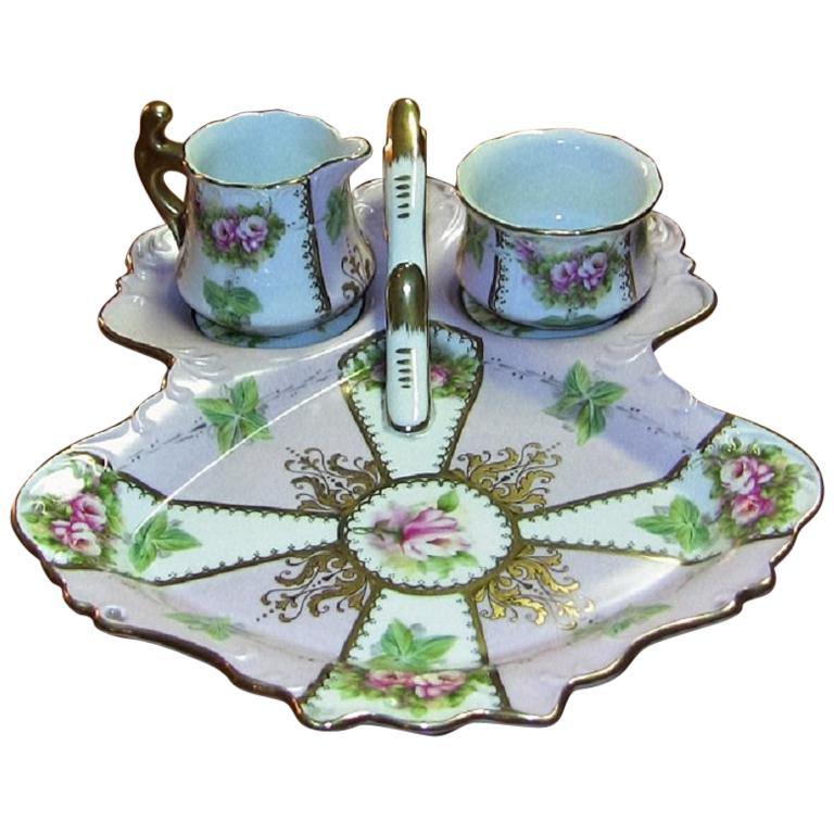 19th Century Sevres Porcelain High Tea Set and Tray