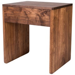 Slate Side Table by Tretiak Works, Handmade Contemporary Walnut Nightstand