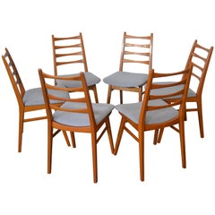 Dining Chairs from Kuhlmann & Lalk, 1960s, Set of Six
