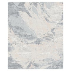 Multani Clay Contemporary Art Hand-Knotted Wool and Silk Rug