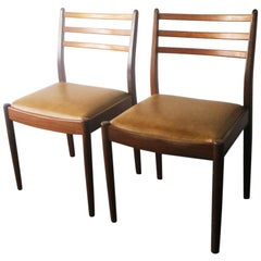 Set of Four 1970s Midcentury G Plan Dining Chairs