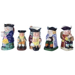 Collection of Five Toby Jugs, 1880-1940