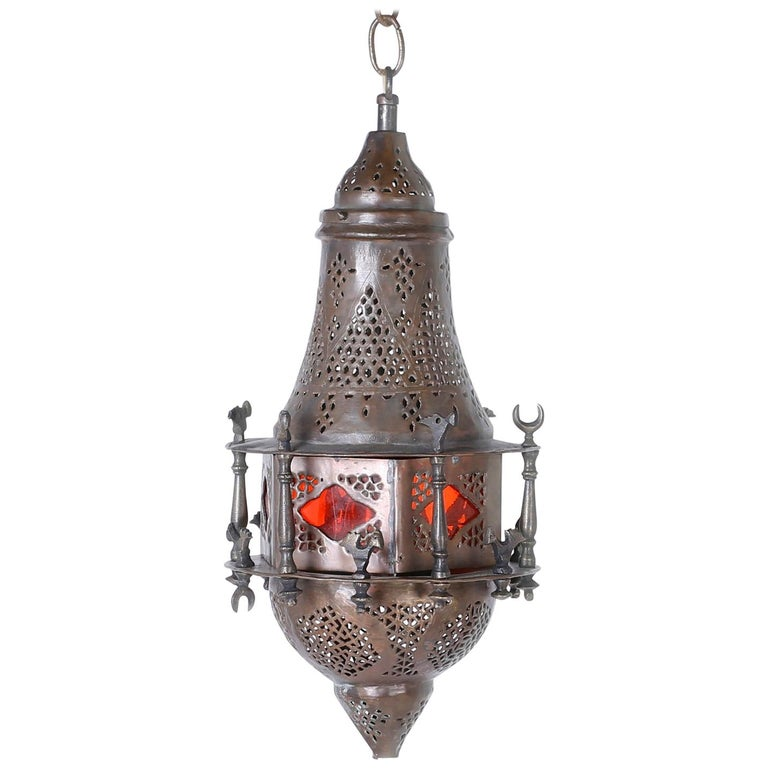 Moroccan Brass Light Fixture or Pendant