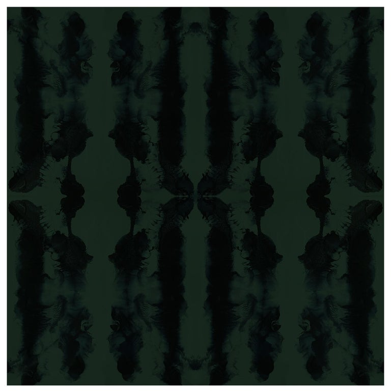 Waterstripe Wallpaper in Green Smoke by Gray Flores Design x Greenpoint Hill